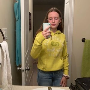 Aeropostale yellow hoodie